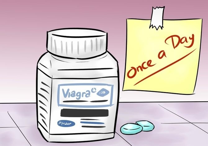 Viagra is only for the oral intake once a day